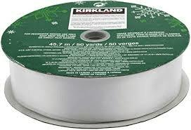 Kirkland Signature White Wire-Edged Ribbon